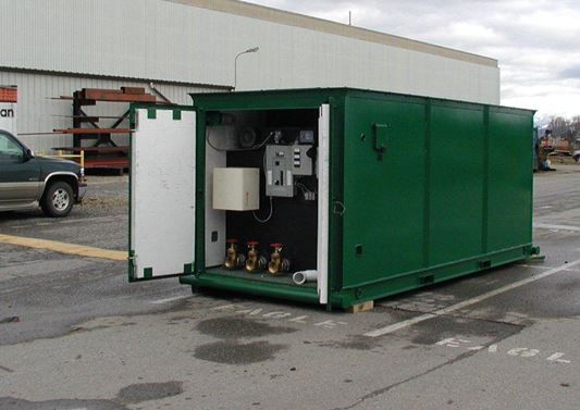 containerized wastewater treatment system
